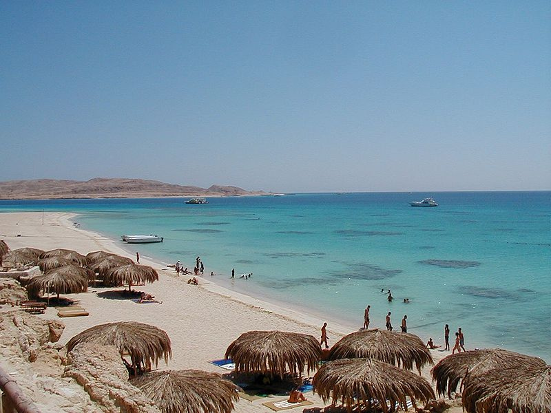 Beautiful sandy beach on Giftun Island, Hurghada