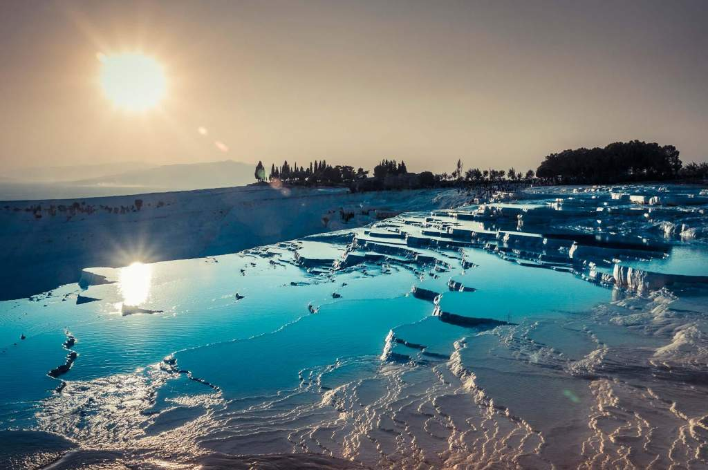 Pamukkale is the site of the world's most unusual and arguably most beautiful hot springs in the world making it a major travel destination.
