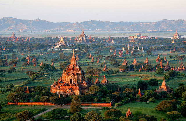 Temples in Bagan: Largest and densest concentration