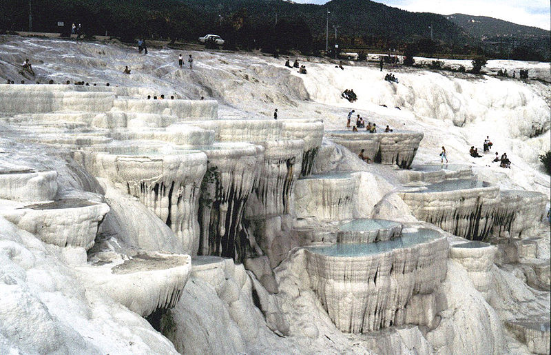 The fairyland Pamukkale is a must-see traveling through this region, during a holiday in Turkey