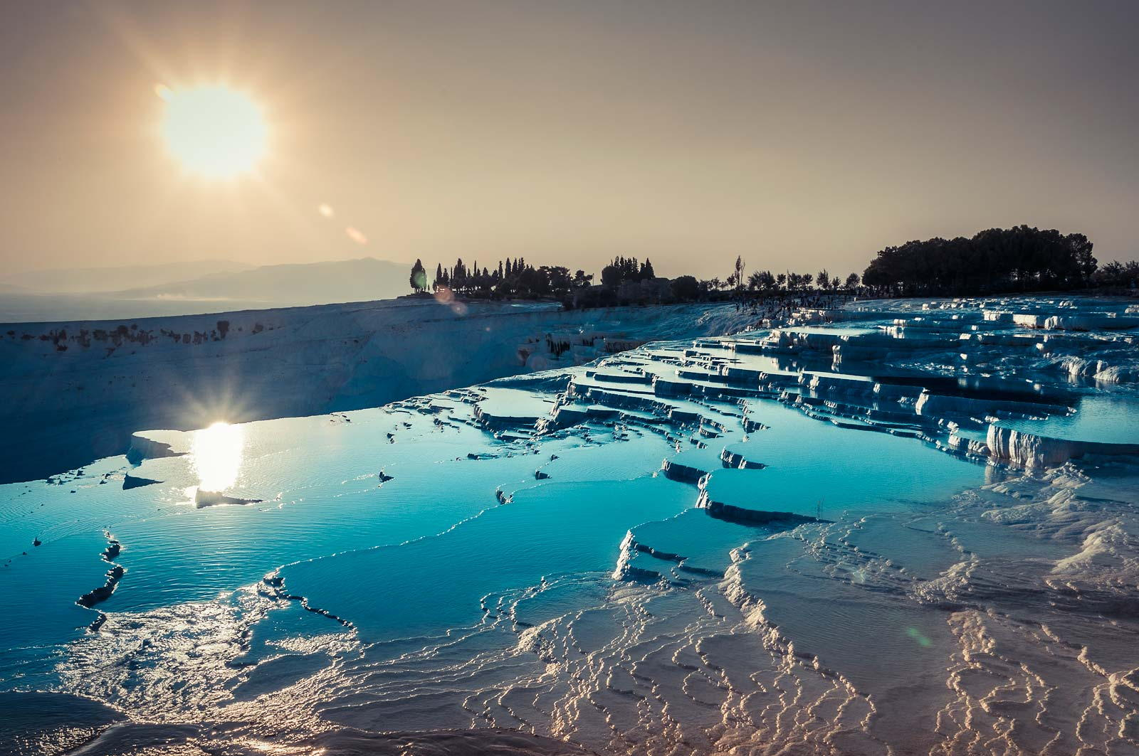 Pamukkale Travetine Terrace, Turkey.