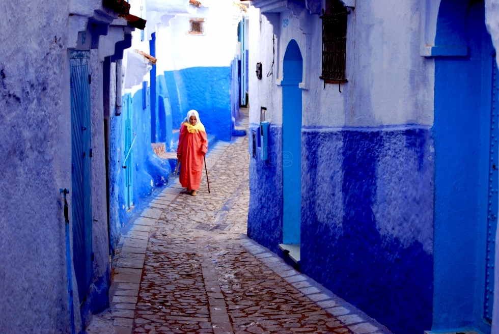 The blue town Chefchaouen, Morocco