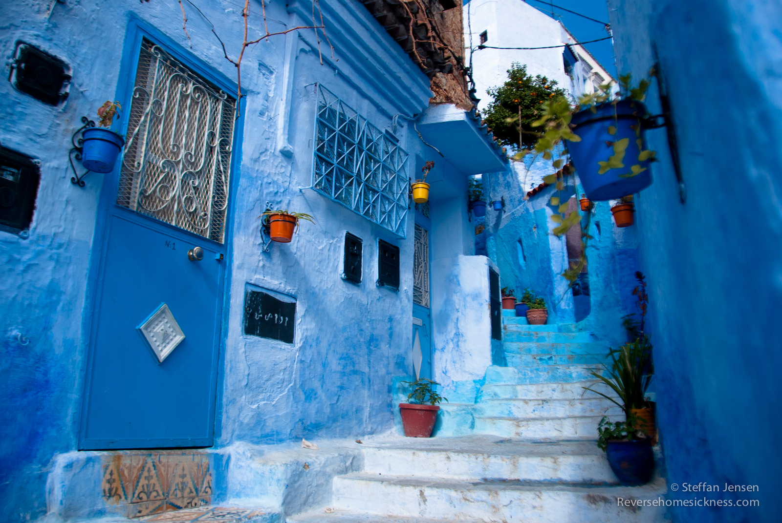 Best MOROCCOCHEFCHAOUEN Images On Pinterest Morocco - Old town morocco entirely blue