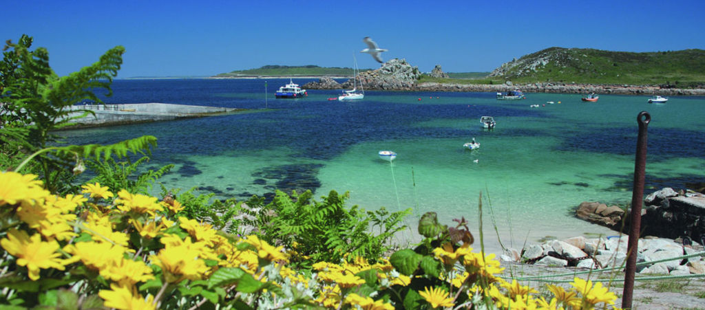 Scenic lagoon in Isles of Scilly