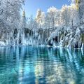 winter plitvice lakes Croatia