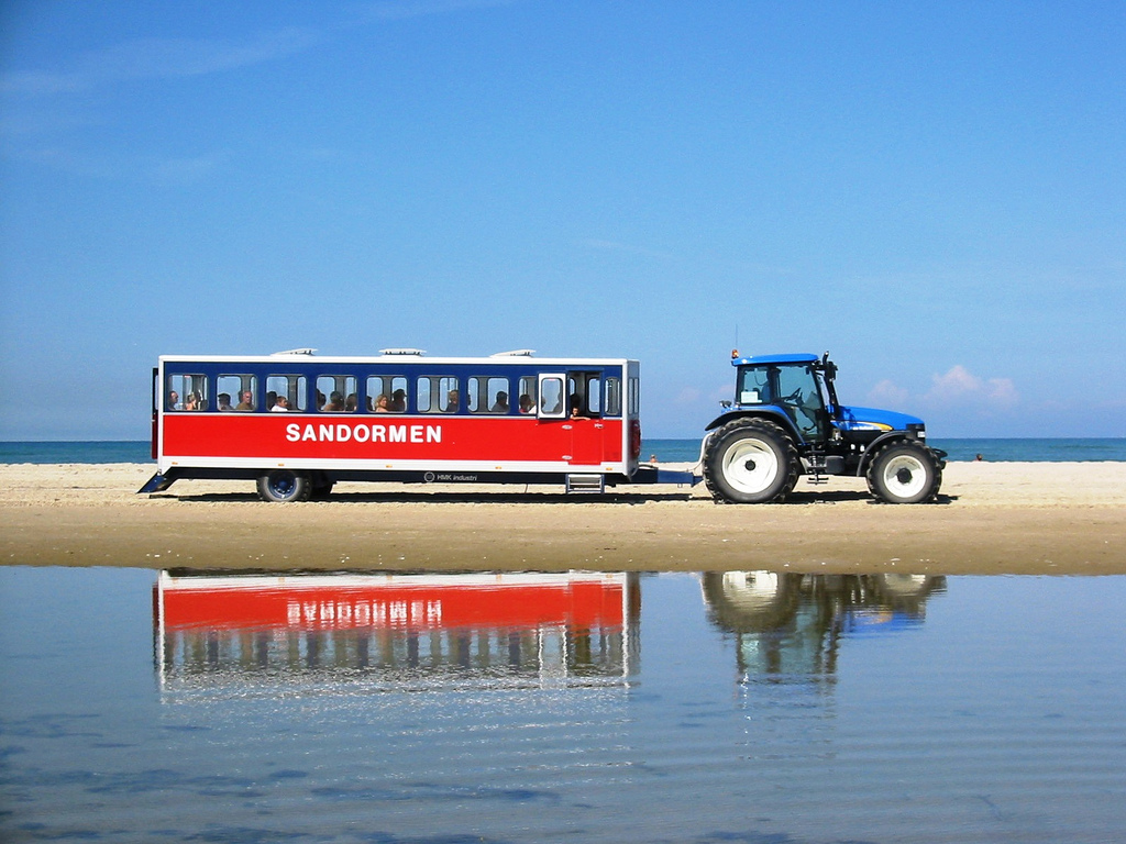 Sandormen is the local vehicle that takes you to Grenen