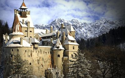 The real Dracula Castle in Transylvania in Romania
