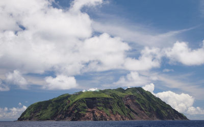 Aogashima Island Located In The Philippine Sea