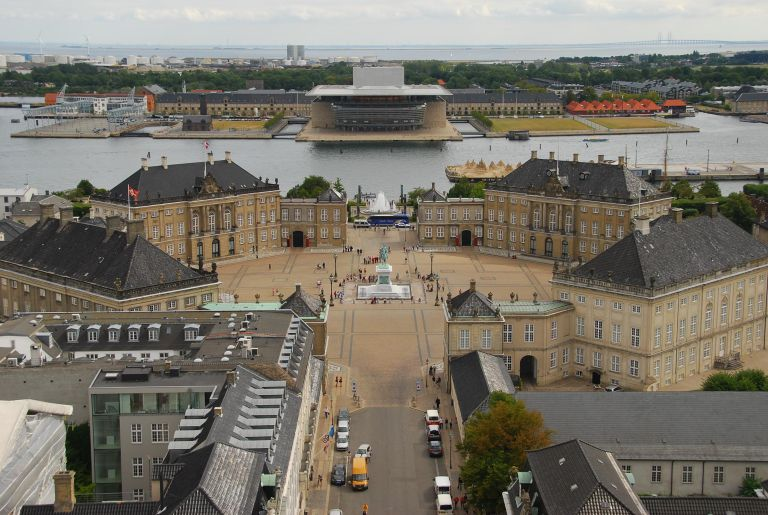 Amalienborg Palace Square and Opera House in Copenhagen