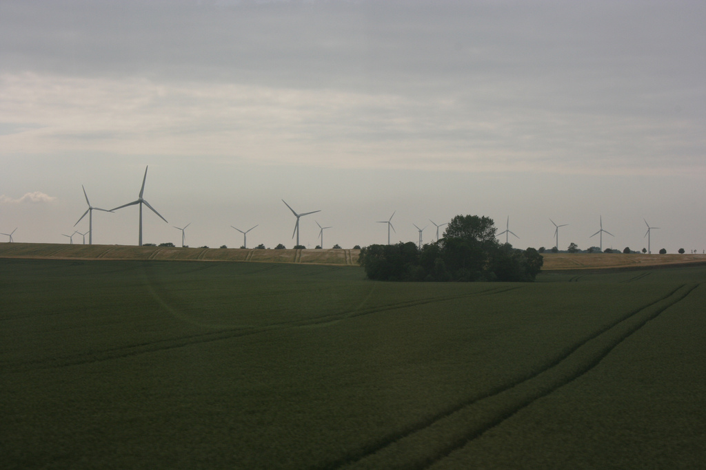 Denmark also has a lot of wind turbines on land