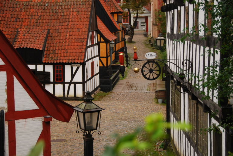 The Old Town Museum in Aarhus is National Open Air Museum of Urban History and Culture