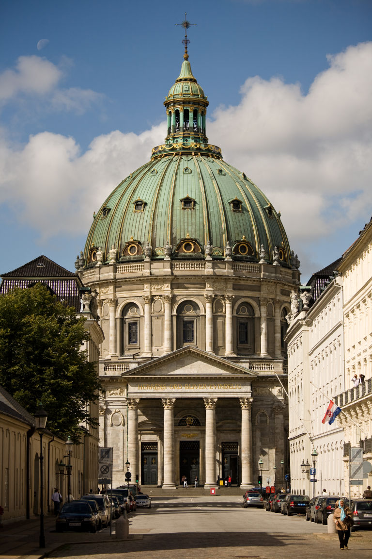Frederik's Church in Copenhagen is also called the Marble Church and has the biggest dome in Scandinavia