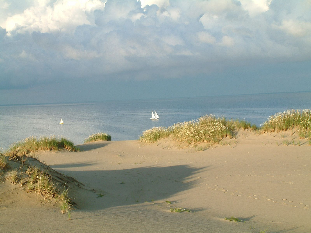 Curonian Spit is an UNESCO heritage site located in Lithuania