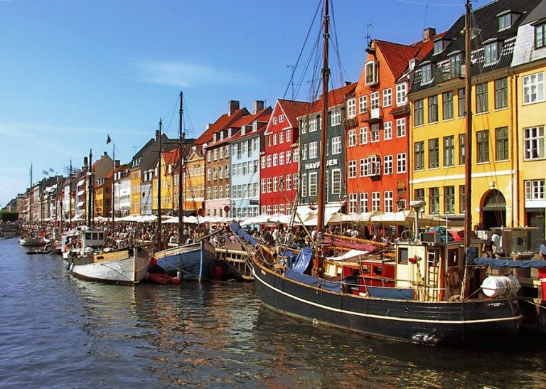 Nyhavn is a very popular district situated in the Harbor of Copenhagen