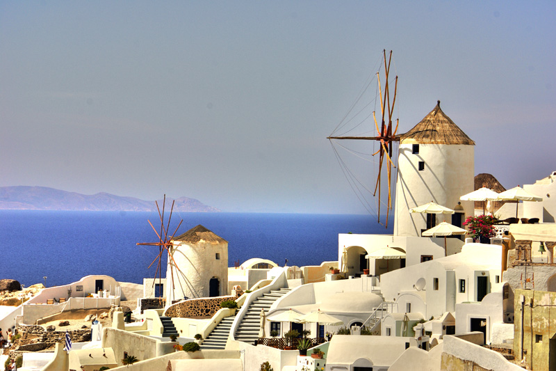 Oia is the most famous town on Santorini