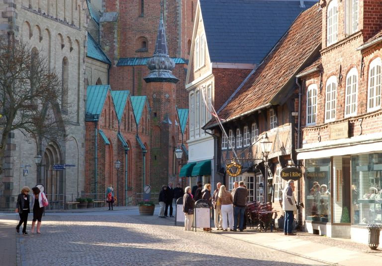 Ribe is the oldest town of Denmark