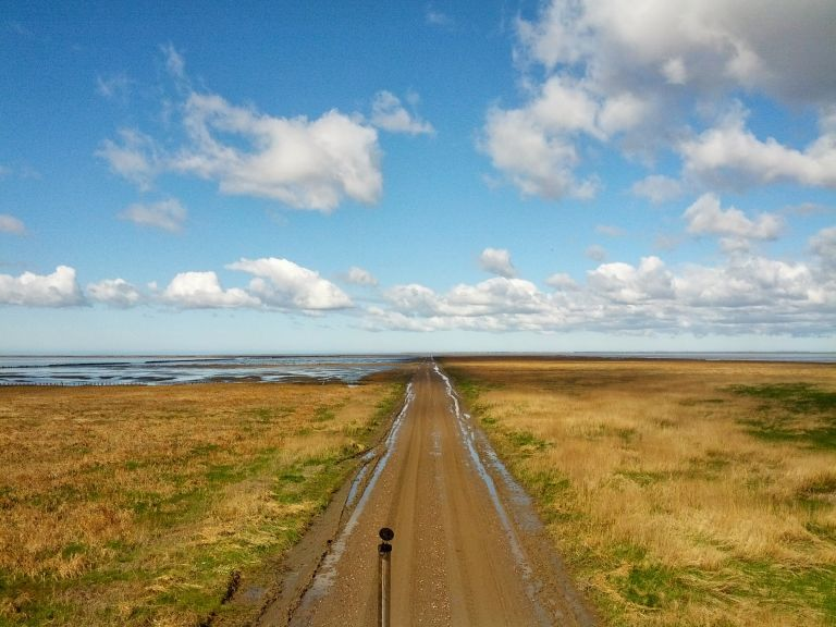 Wadden Sea in the southwestern part of Denmark is an UNESCO heritage site