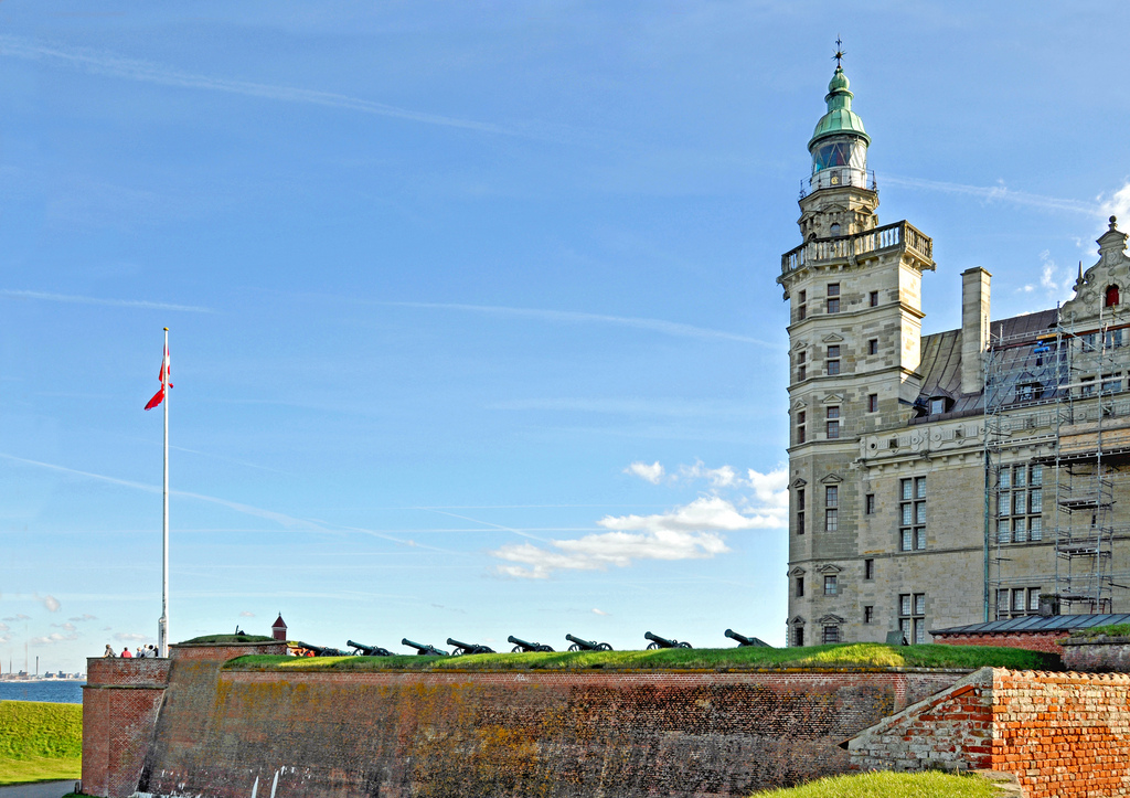 Kronborg Castle in Helsingor is the setting of Hamlet