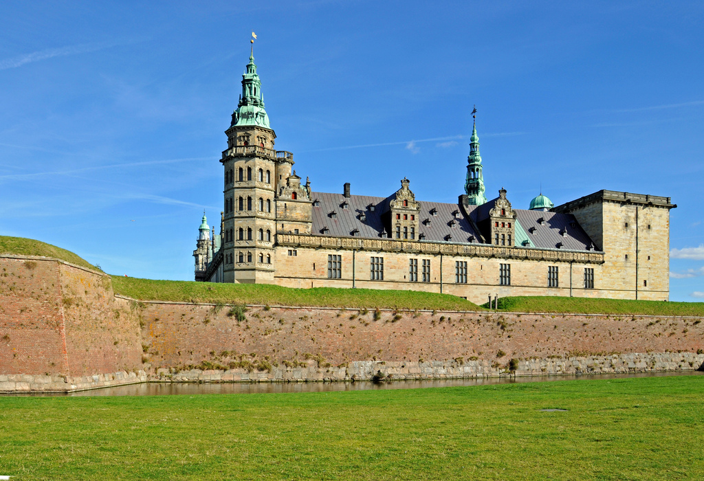 Kronborg is located in Helsingør north off Copenhagen