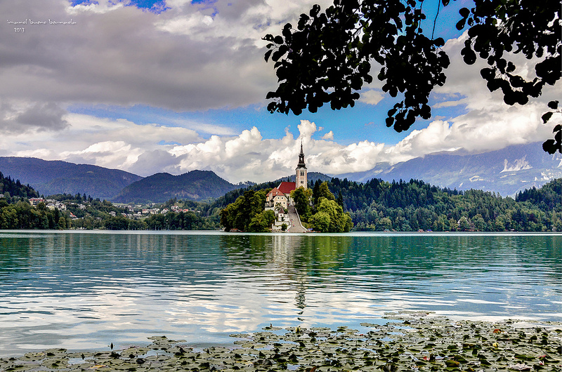 Lake Bled is located close to the highway