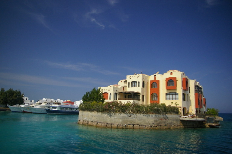 Harbour in Hurghada, Egypt