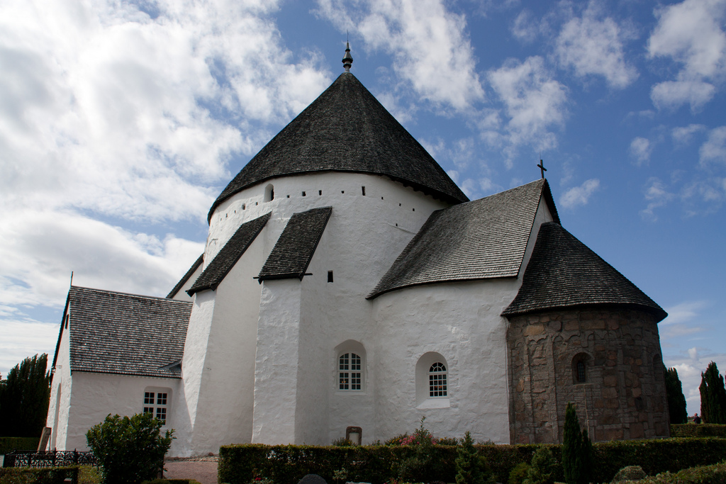 Osterlars church is the most famous round church on Bornholm