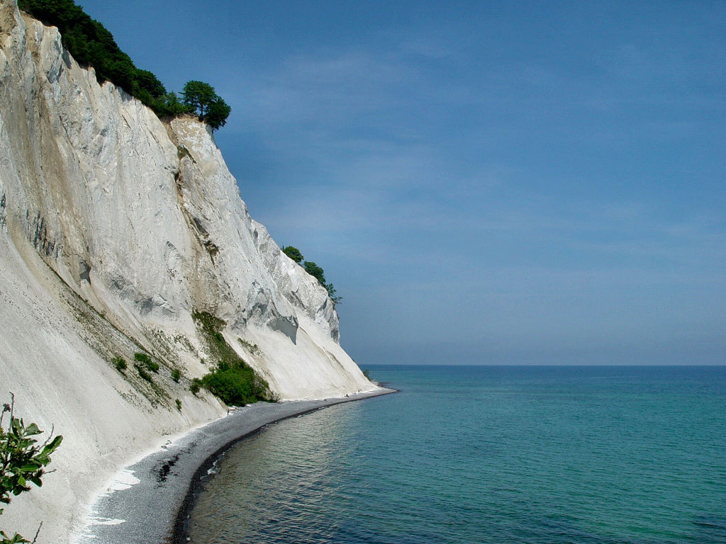 The cliffs at Moen is located south off Copenhagen on the small island of Moen