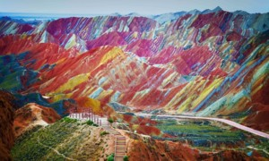 Landforms In China: Zhangye Danxia Mountains