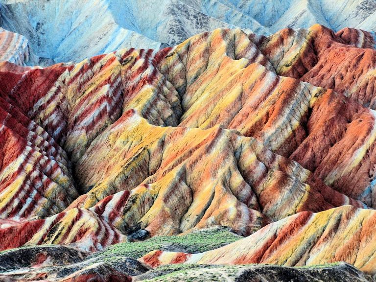 zhangye danxia landform gansu china.