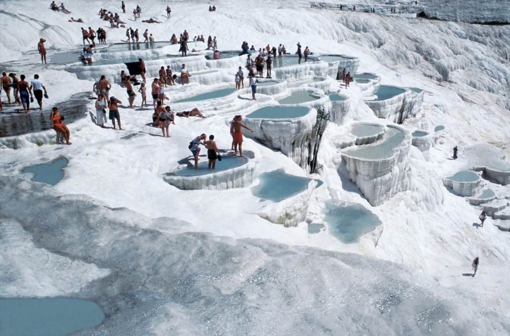 Pamukkale is the site of the world's most unique and arguably most beautiful hot springs in the world making it a major travel destination.