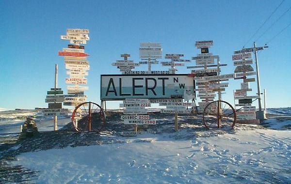 Alert in Nunavut is the most northerly town in the world