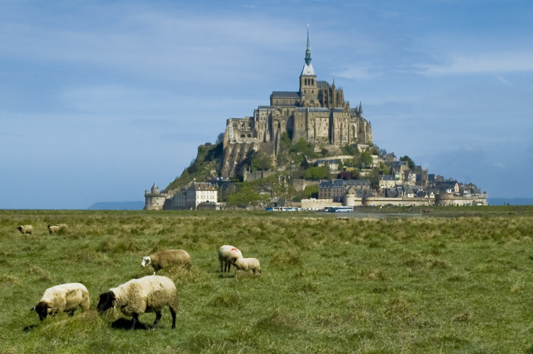 View of Le Mont Saint Michael.