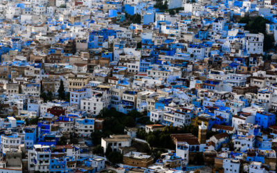 View from the mosque above Chefchaouen.