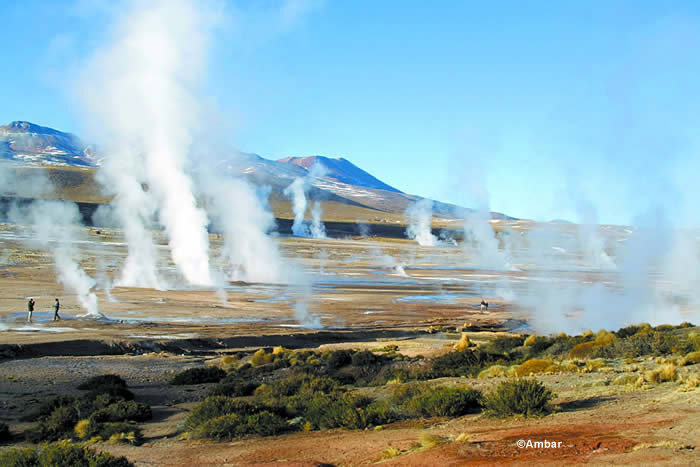 El Tatio Geyser Field in Atacama Desert in Chile