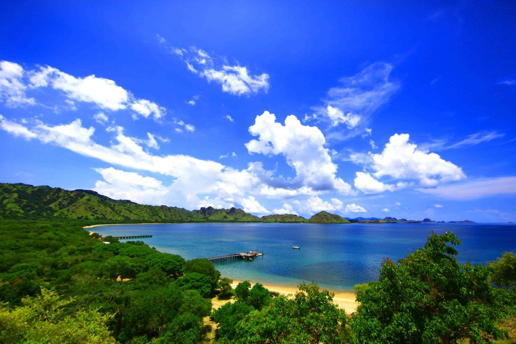 Photo showing the landscape and shore on Komodo Island