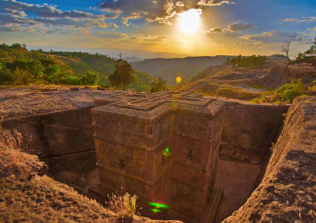 Rock-Hewn Church in Lalibela in Ethiopia