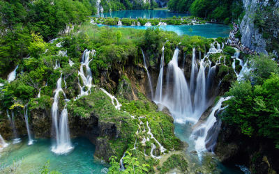 The landscape in Plitvice Lakes National Park is amazing