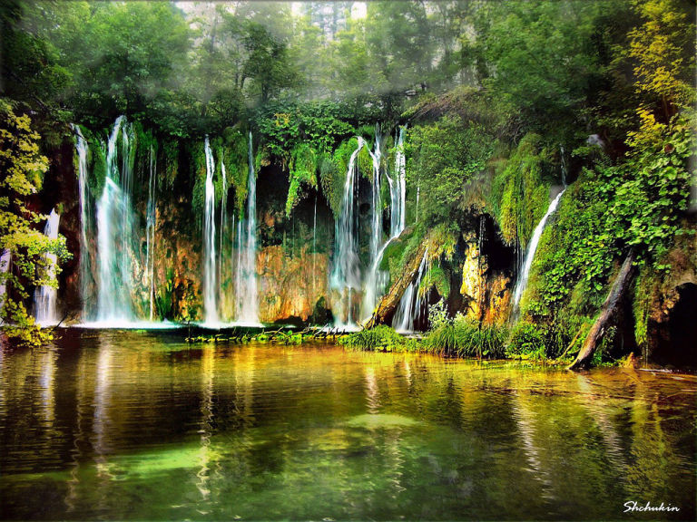 Waterfalls Plitvice Lakes