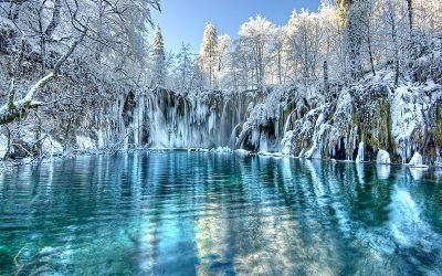 Plitvice lakes is like a fairy tale in winter