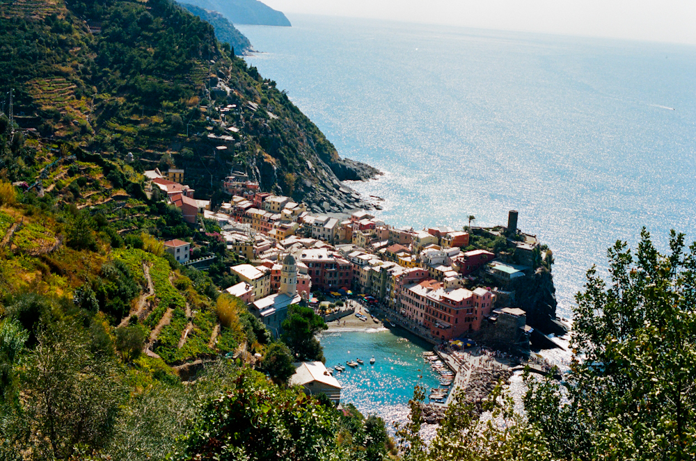 View of the amazing Ligurian landscape in Cinque Terre