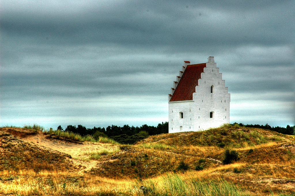 Den tilsandede kirke in skagen is a local landmark