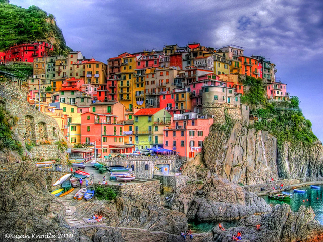 Manarola is one of the five villages in Cinque Terre in Italy