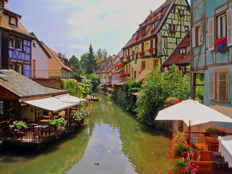 Colmar in Alsace has a beautiful old town