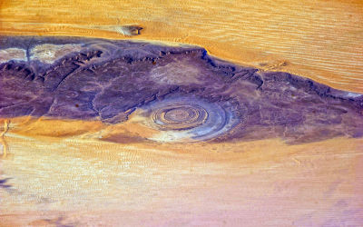 Satellite picture of the Richat Structure