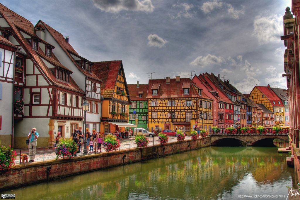 Colmar has a very beautiful medieval town centre.
