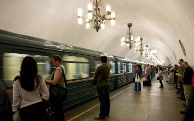Metro system moscow