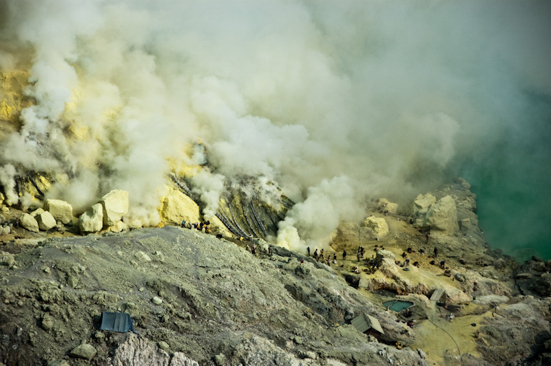 Kawah Ijen Sulfur Mine Java