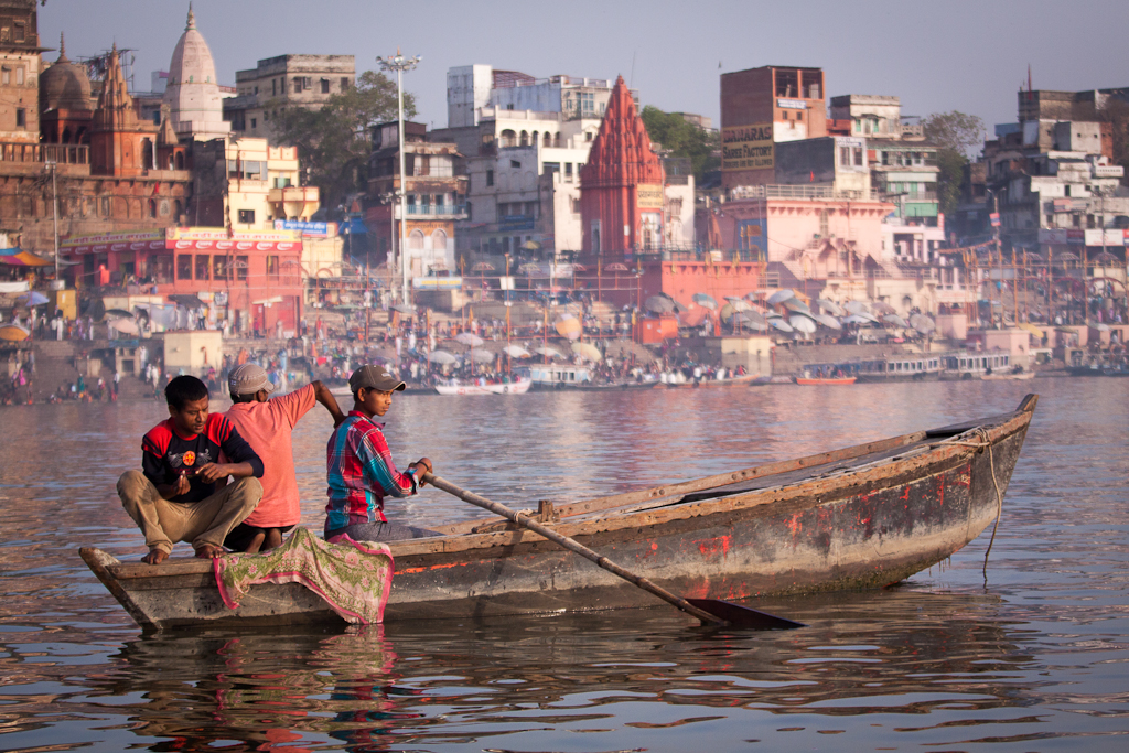 Varanasi, India, Ganges River at morning