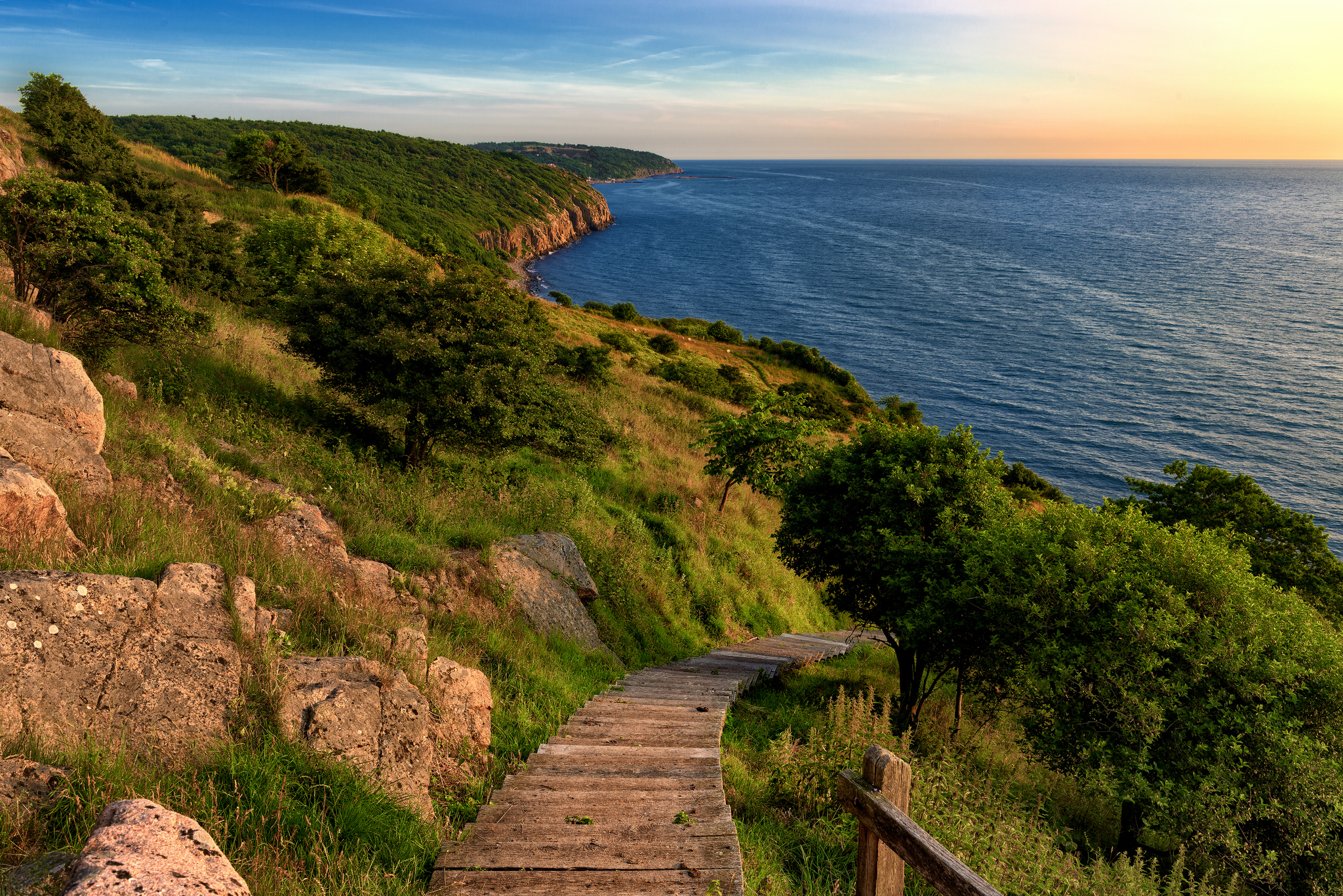 Bornholm offers stunning landscapes and nature