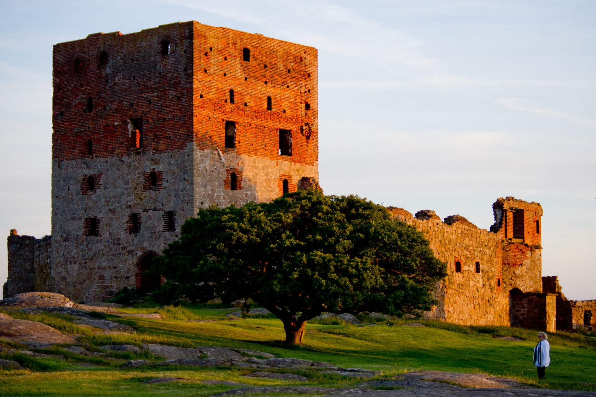 Hammershus is one of the biggest tourist attraction on Bornholm
